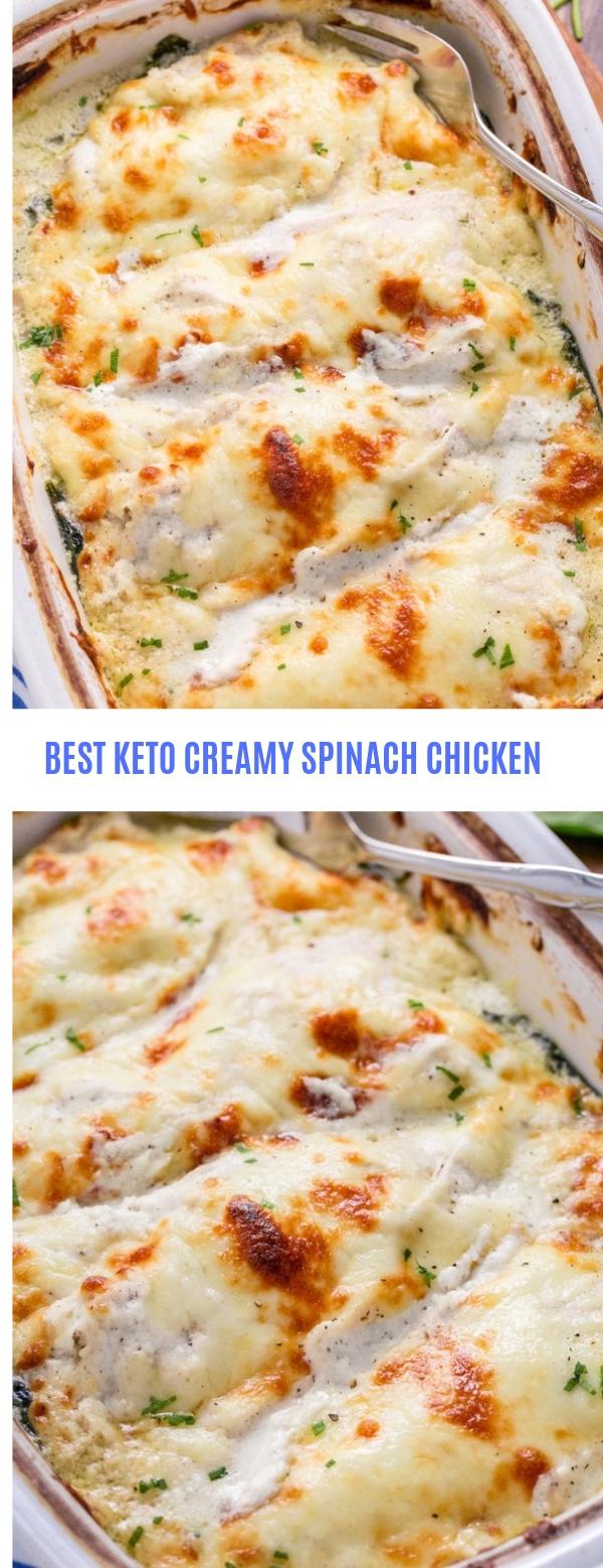 BEST KETO CREAMY SPINACH CHICKEN