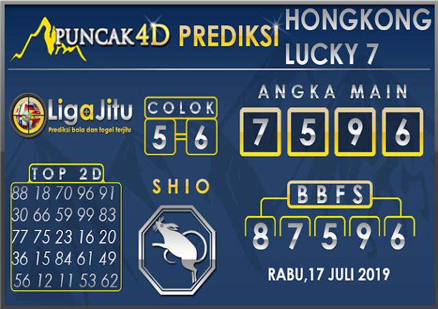 PREDIKSI TOGEL HONGKONG LUCKY7 PUNCAK4D 17 JULI 2019