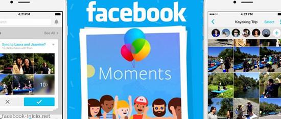 instalar Moments en facebook