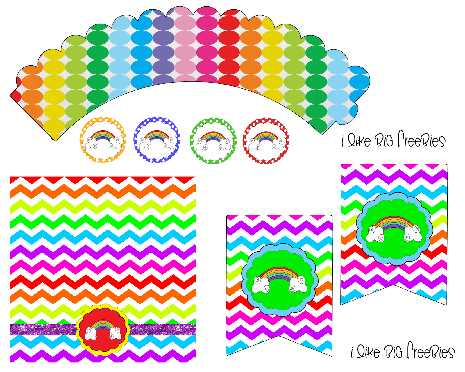 Mommycraftsalot Lookie Rainbow Party Printables