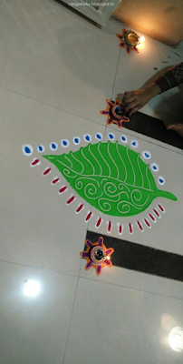 Leaf Rangoli Designs
