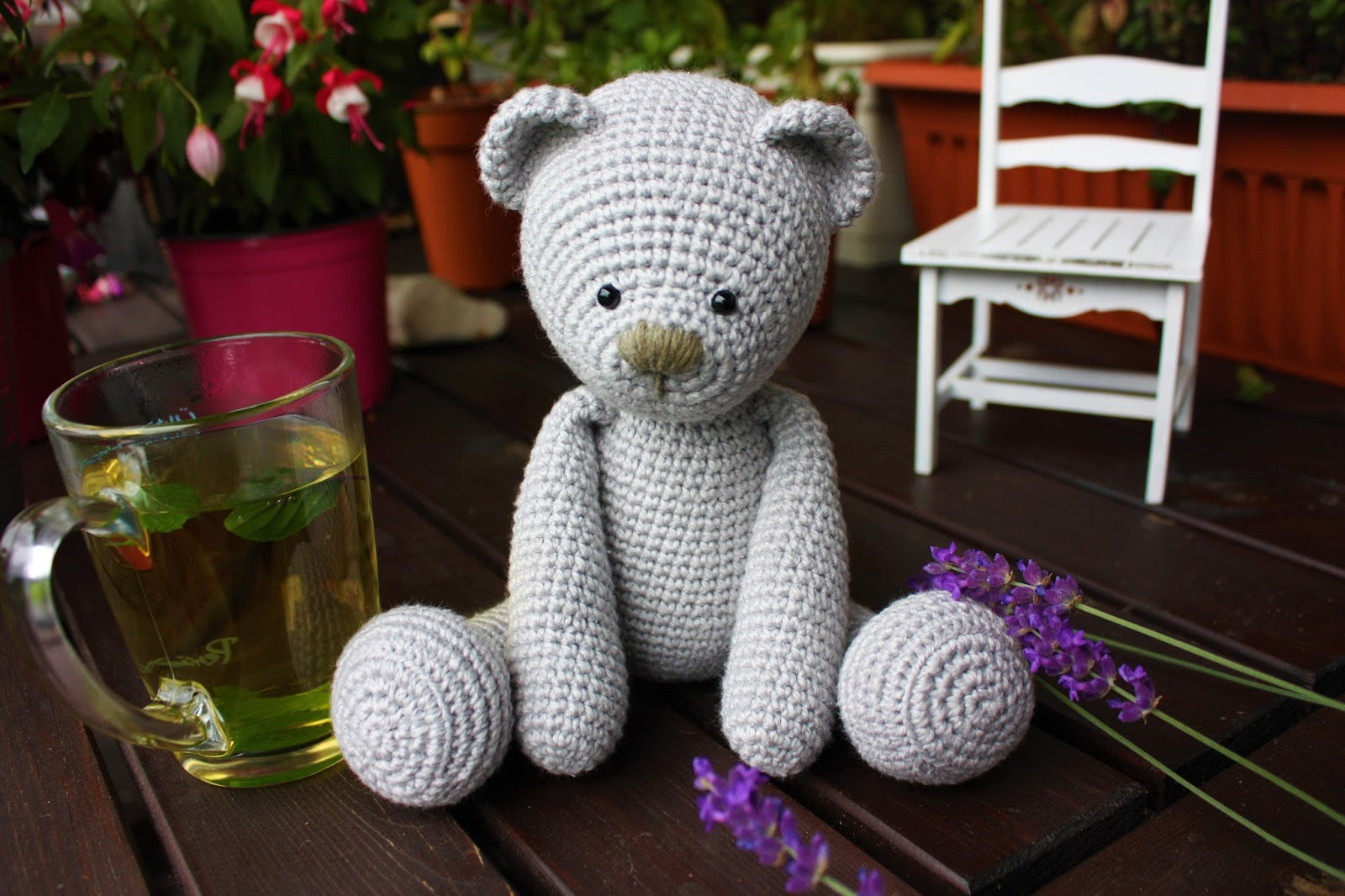 Happyamigurumi: Silk and Cotton and a Teddy Bear - it´s a boy, again!