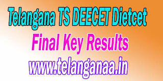 Telangana TS DEECET Dietcet Final Key Results