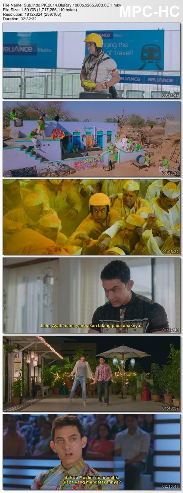 Screenshots Download ПиКей (2014) BluRay 480p & 3GP Subtitle Indonesia