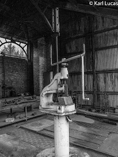 Old hand fly press in the iron works