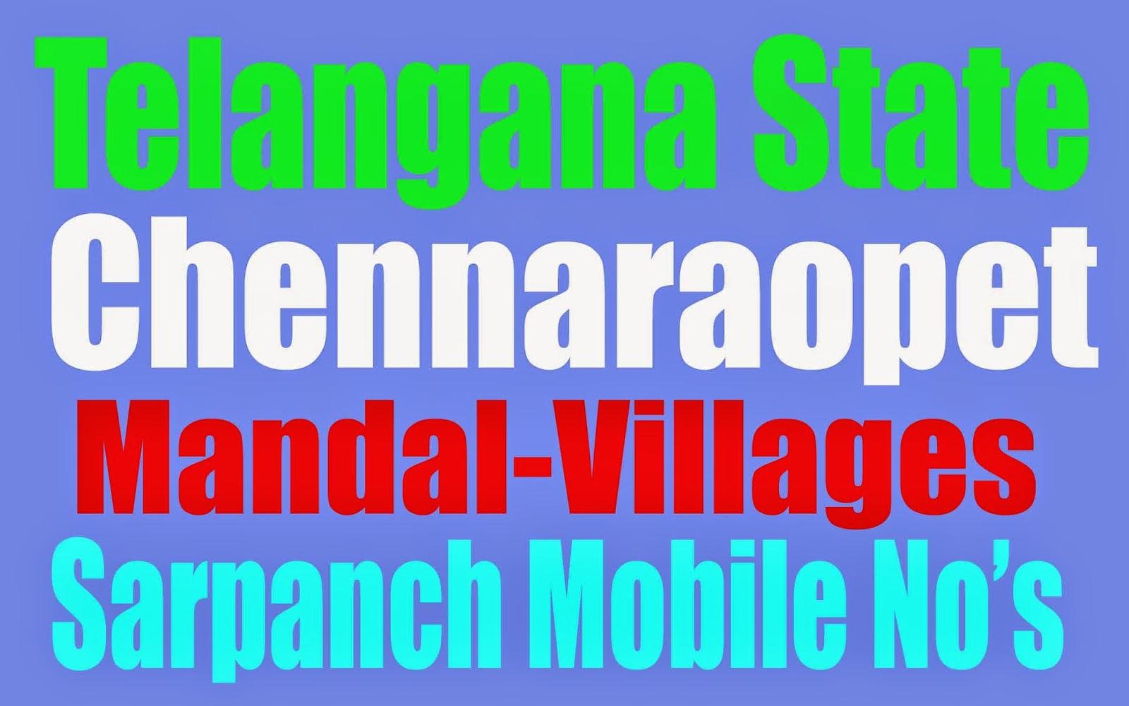 Telangana Mandals And Villages List
