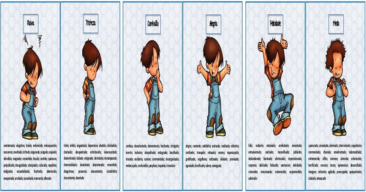 dicionário das emoções para enriquecer o vocabulários das crianças