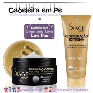 Máscara e Condicionador Siàge Regeneração Extrema - Eudora (Low Poo) - Por Marcos Proença