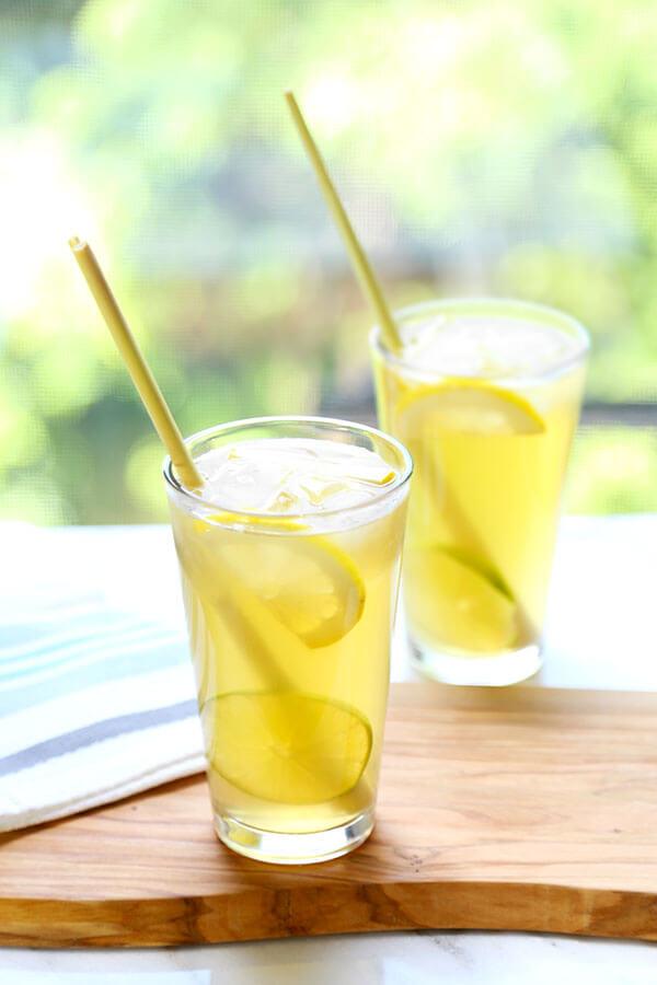 Lemongrass ginger iced tea