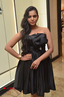 Actress Manasa Himavarsha Pictures in Black Short Dress at The Great Hydrerabad Life Style EXPO II  0044.JPG