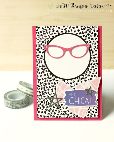 Hey Chica! Card by Janet Perafan-Babar: Clique Kits Northern Lights May 2016 Kit | My Favorite Things: Geek is Chic, Lucky Stars