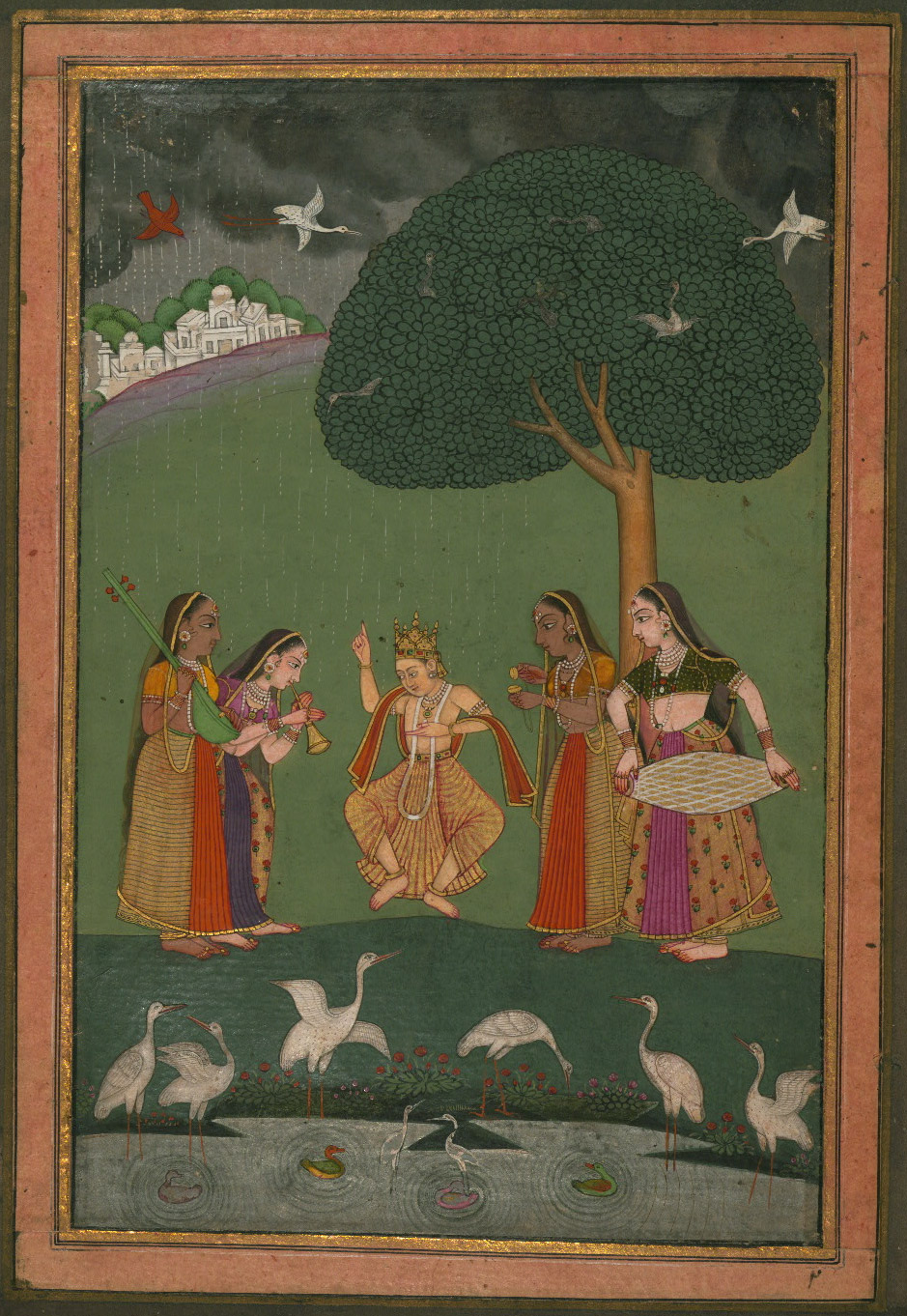Megha Raga  - Miniature Painting, Ragamala series, 19th Century