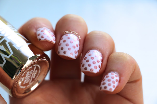 Rose Gold Polka Dot Nail Art