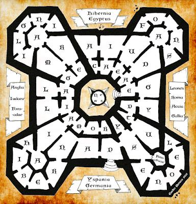 Plano de la biblioteca de El nombre de la rosa