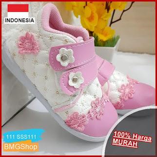 SSS111 Sepatu Sneaker Bunga Pink Payet BMGShop
