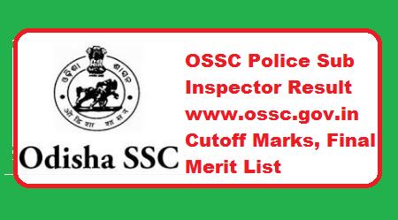 OSSC Police Sub Inspector Result 2019