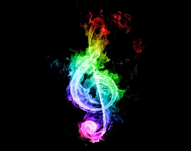 Rainbow Treble Clef Music