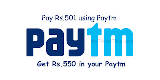 Paytm Loot : Pay Rs.501 on nearbuy using Paytm Wallet & Get Rs.550 back in your Paytm Wallet