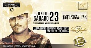 Concierto de ESPINOZA PAZ en Bogotá 2018