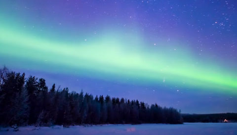 Aurora Borealis, made possible to control with an accessibility switch.