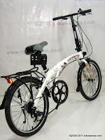 4 Sepeda Lipat Fold-X Nagoya 7 Speed Shimano 20 Inci
