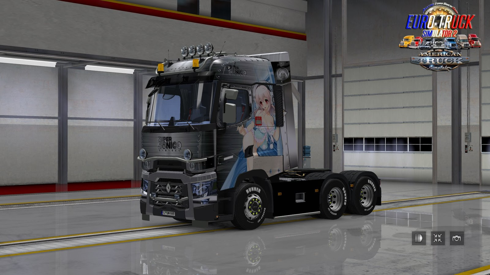 amazing euro truck shop simulation renault range t super sonico 1 0. Black Bedroom Furniture Sets. Home Design Ideas