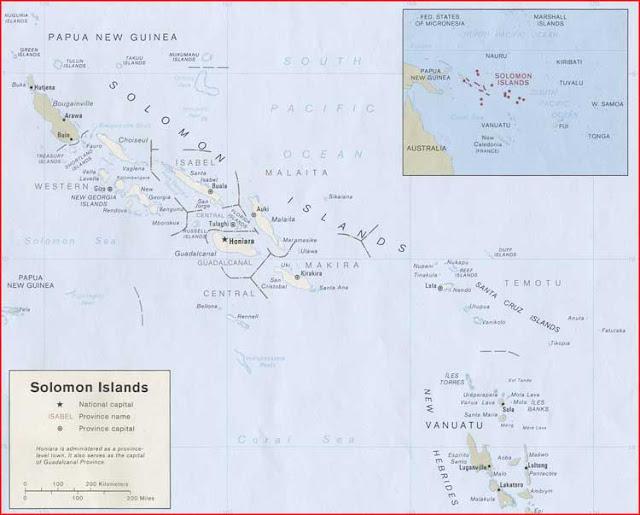 Gambar Peta politik Kepulauan Solomon
