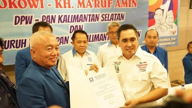 PAN Copot Ketua DPW Kalsel yang Dukung Jokowi-Ma'ruf