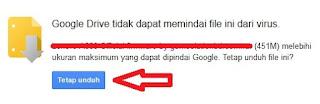 solusi agar ukuran dan resume muncul di idm saat download file dari google drive