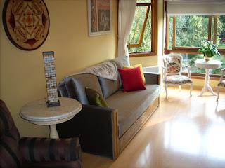 Living - Apartamento Temporada Gramado
