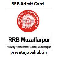 RRB Muzaffarpur Admit Card