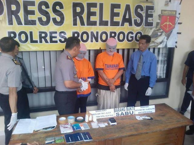 Tangkap 2 Pengedar, Polres Ponorogo Amankan 50 Gram Sabu