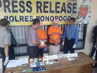 Polres Ponorogo Amankan 2 Pengedar Sabu