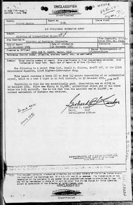 Astronaut Deke Slayton UFO Sighting Report (1 of 3)12-19-1951