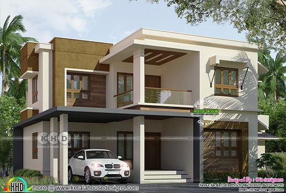 ₹49 lakhs cost estimated flat roof house