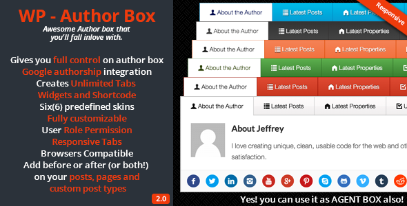 Free Download WP – Author Box V2.0.4 Wordpress Plugin