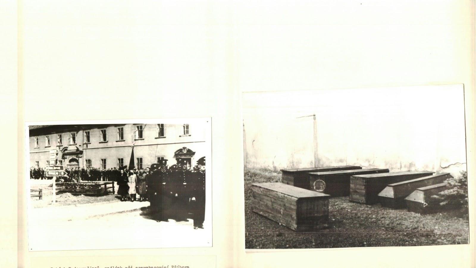 Похороны красноармейцев в г. Пршибор (Чехословакия) в 8.5.1945