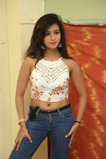 Deekshita Parvathi in a short crop top and Denim Jeans Spicy Pics Beautiful Actress Deekshita Parvathi January 2017 CelebxNext (20).JPG