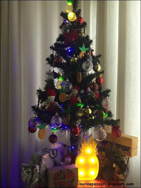 luminária de abacaxi