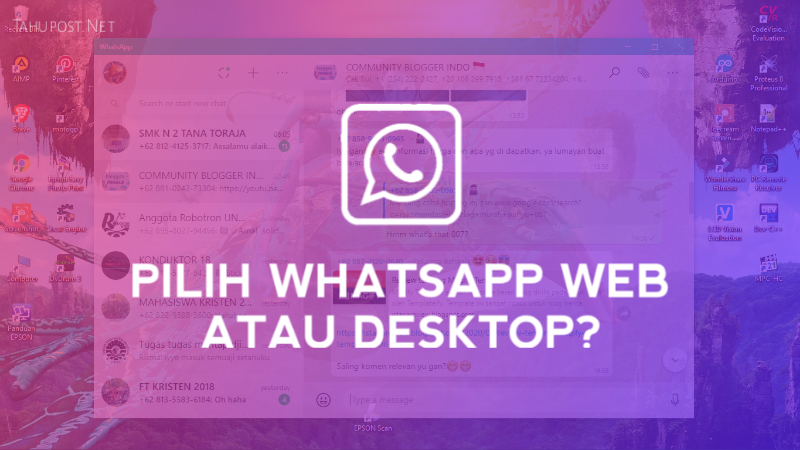 WhatsApp Web Vs WhatsApp Desktop