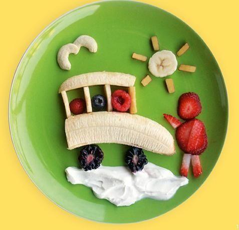 Lanches com frutas para crianças