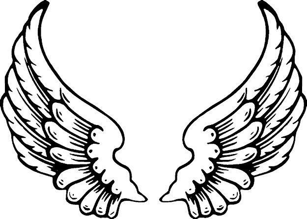 Wings Eagle Angel Bird Angel Wings Clip Art Sketch Coloring Page
