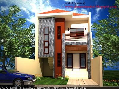 desain rumah 002 : contoh desain dan gambar kerja rumah