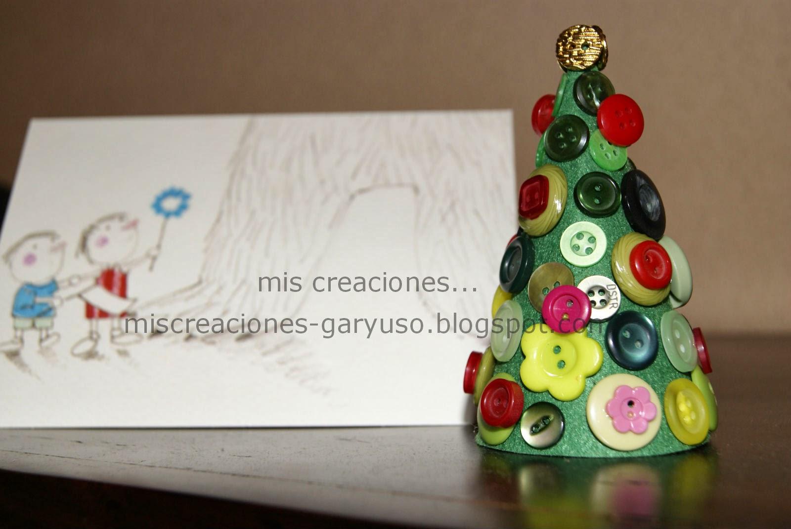 arbol de navidad con botones