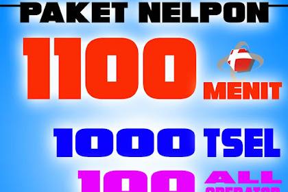 Paket 1100 Menit | Paket Nelpon Telkomsel 1000 Menit | 100 Menit Paket Nelpon All Operator Telkomsel