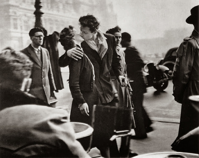 O beijo do Hotel de Ville, Paris, 1950, Robert Doisneau