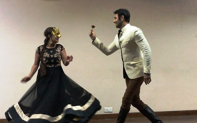 "Sandip Soparrkar and Sharbani Mukherji, performing ""Stop Acid Attack, One Billion Rising"