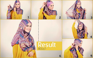 Hijab Pengantin Segi Empat Simple