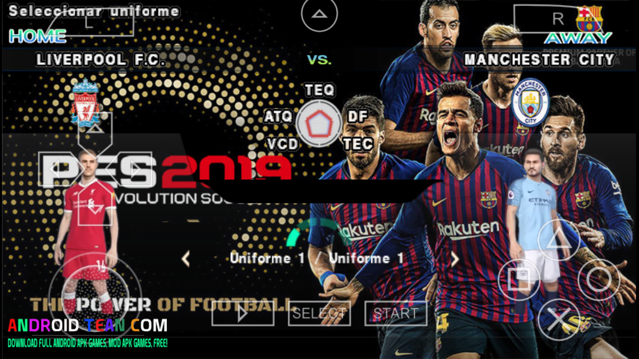 PES 2018-19 PPSSPP [Update New Game] - Android Tean