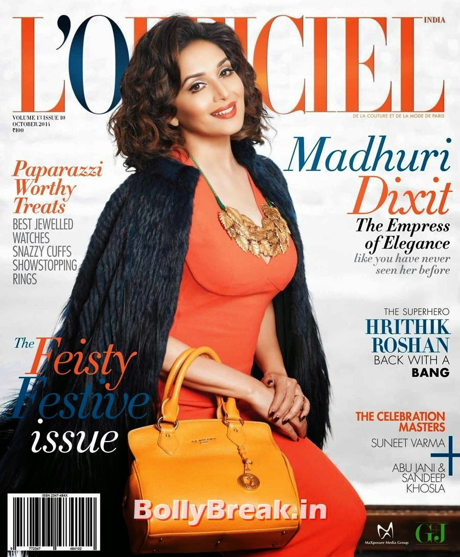, Hot Magazine Scans for Madhuri Dixit from L'officiel India